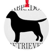 BlackLabradorRetriever_around Ornament
