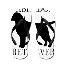 BlackLabradorRetriever_around Flip Flops