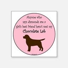 "GBF_Lab_Chocolate Square Sticker 3"" x 3"""