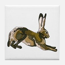 Hare (brown) Tile Coaster