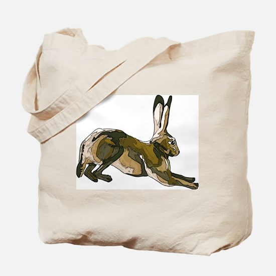 Hare (brown) Tote Bag