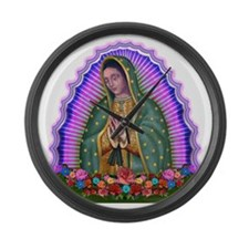 Lady of Guadalupe T4 Large Wall Clock