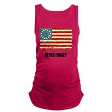 NF Old Glory-black Maternity Tank Top