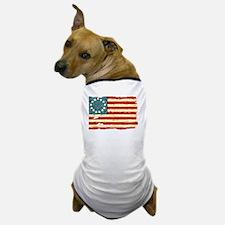 NF Old Glory-white Dog T-Shirt