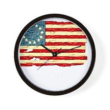 NF Old Glory-white Wall Clock