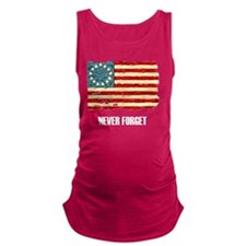 NF Old Glory-white Maternity Tank Top