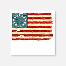 "NF Old Glory-white Square Sticker 3"" x 3"""