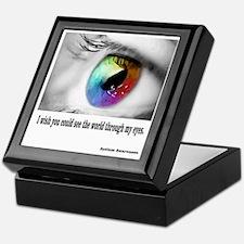 See through my eyes Keepsake Box