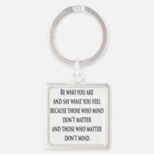 bewhoyouare Square Keychain