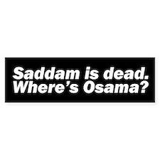 WHERE'S OSAMA? Bumper Bumper Sticker
