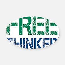 freethinker Oval Car Magnet