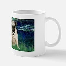 LIC-Lilies 5 - Pug (fawn) Mug