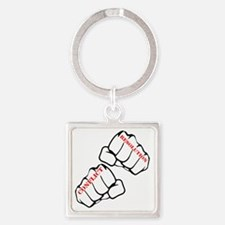 Conflict Resolution Square Keychain