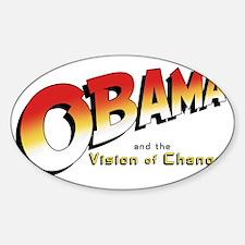 Obama-Jones Sticker (Oval)