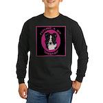 Border Collie Design Long Sleeve Dark T-Shirt
