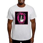 Border Collie Design Ash Grey T-Shirt
