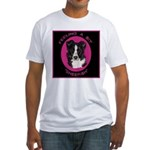 Border Collie Design Fitted T-Shirt