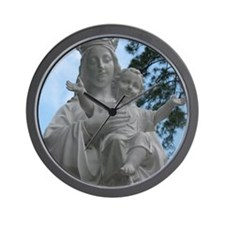 Madonna  Child Wall Clock