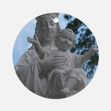 Madonna  Child Round Ornament