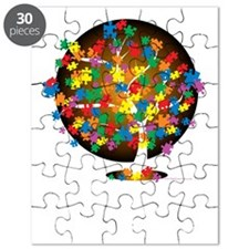 Autism-Tree-blk Puzzle