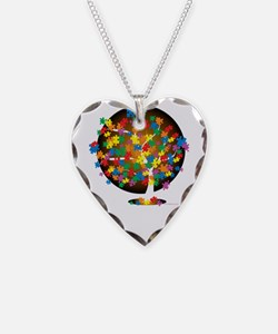 Autism-Tree-blk Necklace