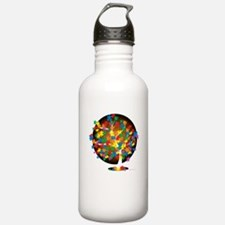 Autism-Tree-blk Water Bottle