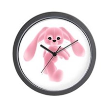 Pink Bunny - Baby Steps Wall Clock