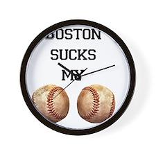boston_sucks_my_balls_1 Wall Clock