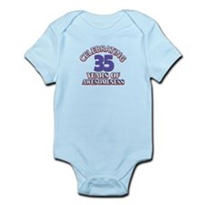 Awesome at 35 birthday designs Infant Bodysuit