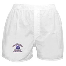 Awesome at 35 birthday designs Boxer Shorts