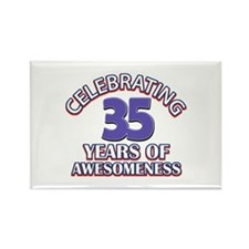 Awesome at 35 birthday designs Rectangle Magnet