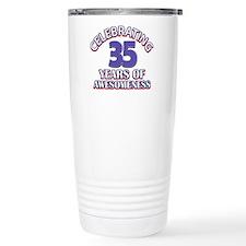 Awesome at 35 birthday designs Travel Mug