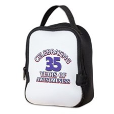 Awesome at 35 birthday designs Neoprene Lunch Bag