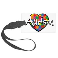 Autism-Puzzle-Heart Luggage Tag