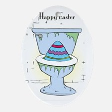 Easter Card Inside Oval Ornament