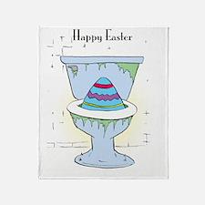 Easter Card Inside Throw Blanket