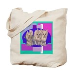 3 Yorkie Puppies Tote Bag