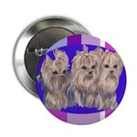 3 Yorkie Puppies Button