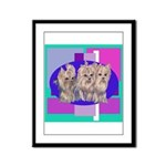 3 Yorkie Puppies Framed Panel Print