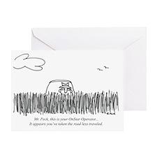 Road_Less_Traveled_GPS Greeting Card