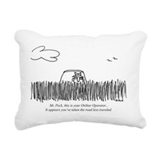 Road_Less_Traveled_GPS Rectangular Canvas Pillow