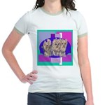 3 Yorkie Puppies Jr. Ringer T-Shirt