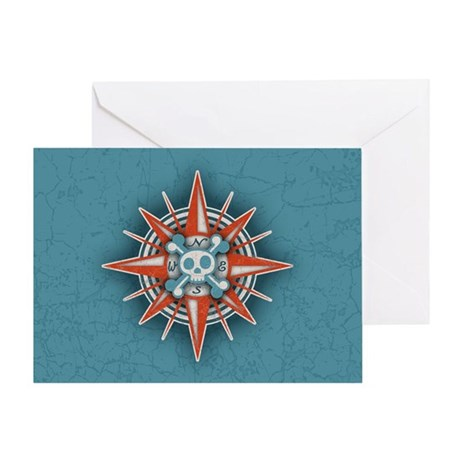 compass-3-OV Greeting Card