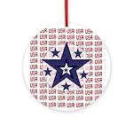 USA All Over Ornament (Round)