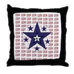 USA All Over Throw Pillow