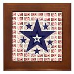 USA All Over Framed Tile