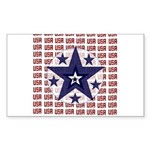 USA All Over Rectangle Sticker