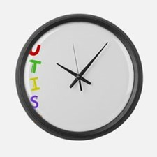 austismacrosticwh Large Wall Clock