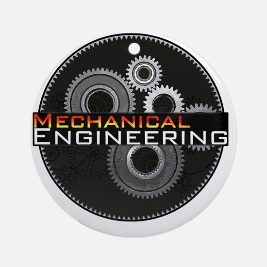 Mechanical Engineering Round Ornament