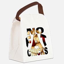 nofatchicks1 png Canvas Lunch Bag
